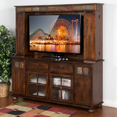 Sunny Designs Santa Fe 72 in. TV Console with Hutch