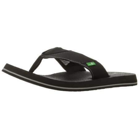 Sanuk Men's Beer Cozy Flip Flop, Black, 13 M US