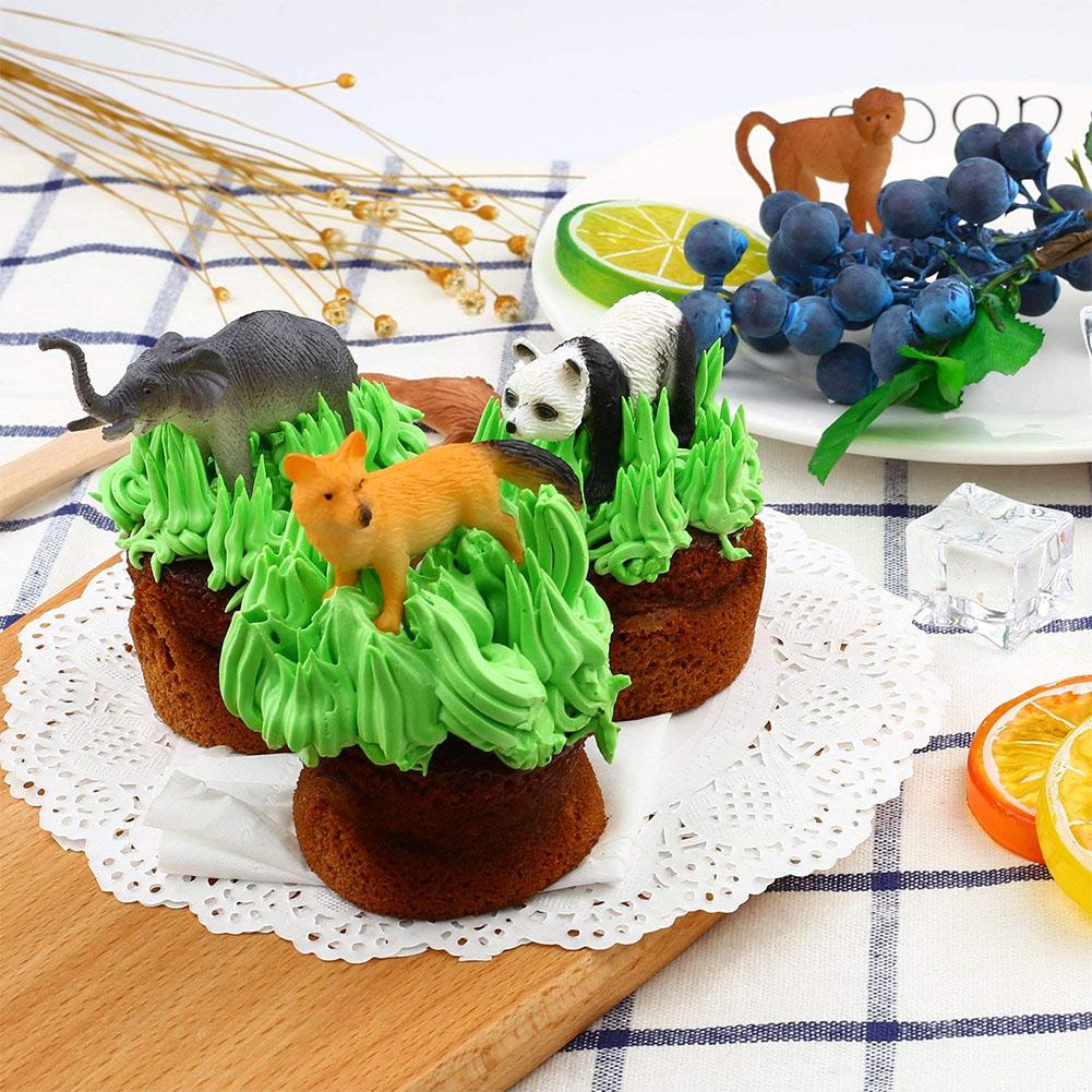 53Pcs Mini Jungle Animal Set Dinosaur Wildlife Model Kid Puzzle Education Toys