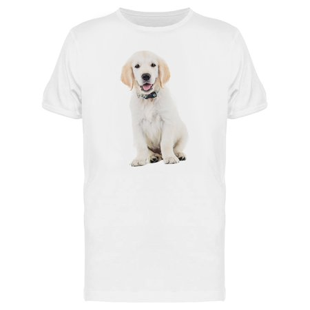 Golden Lacrador Retriever Puppy Tee Men's -Image by