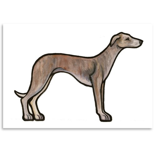 East Urban Home Whippet Painting Print