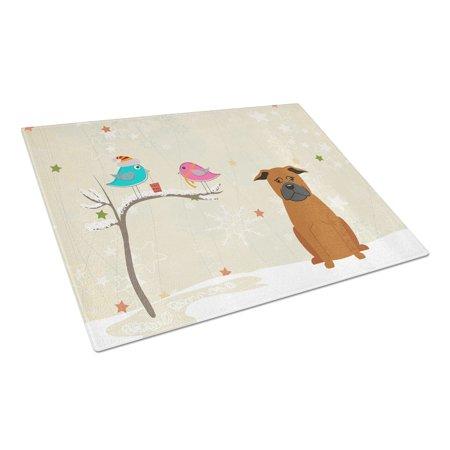 Caroline's Treasures Christmas Presents between Friends Chinese Chongqing Dog Glass Cutting Board Large ()
