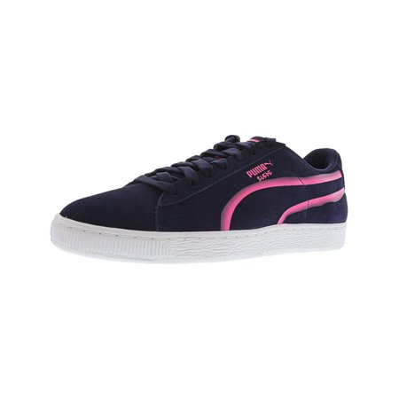Puma Men's Suede Classic X Hollows Peacoat / Pink White Ankle-High Fashion Sneaker -