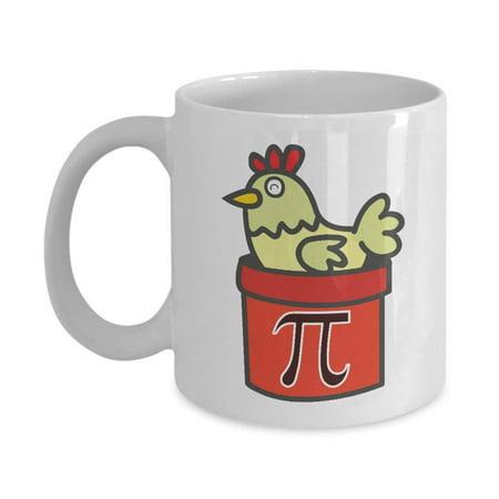 Chicken Pot Pie Coffee & Tea Gift Mug, Best Cute Math Pun Gifts for Him, Her, Men & Women Math Teacher, Geek, Nerd or Student and