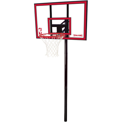 "Spalding 88351 44"" Polycarbonate In-Ground Basketball System by Spalding"