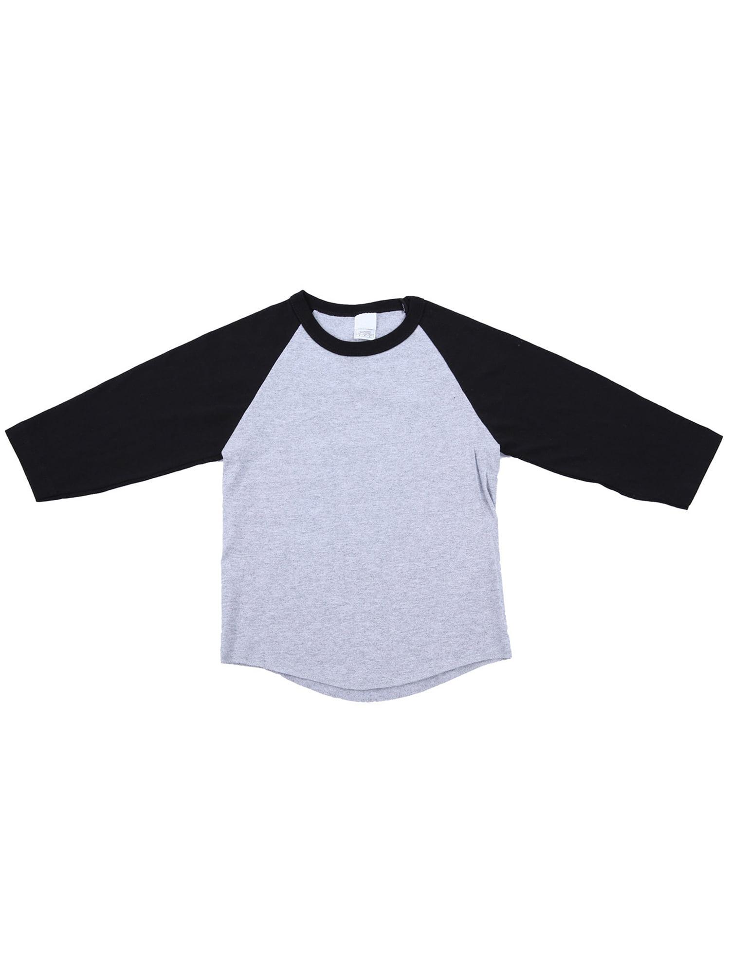 Ola Mari Unisex Kids Raglan 3/4 Sleeve Baseball T Shirt, White/Red, XX Small