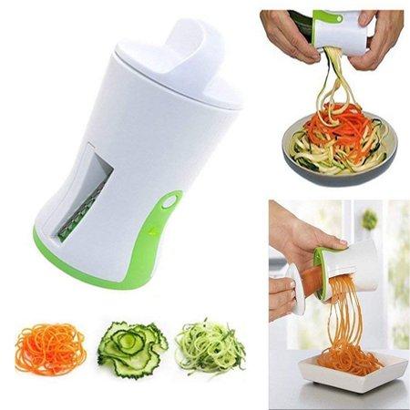 Jeobest 1PC Funnel Spiral Slicer - Kitchen Gadgets Spiral Vegetable - Spiral Vegetable Slicer Handheld - Spiral Funnel Vegetable Grater Carrot Cucumber Slicer Chopper Vegetable Spiral Cutter MZ ()
