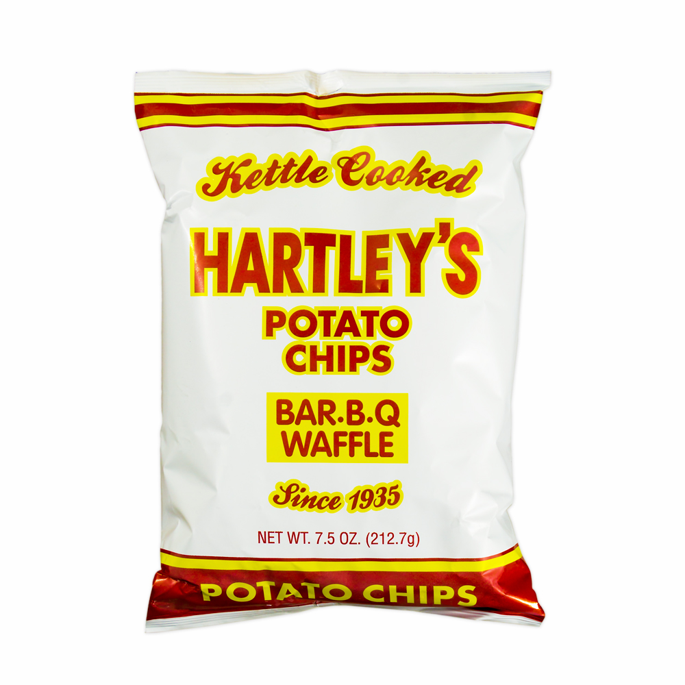 Hartleys Kettle Cooked BBQ Waffle Potato Chips, 9 Oz.
