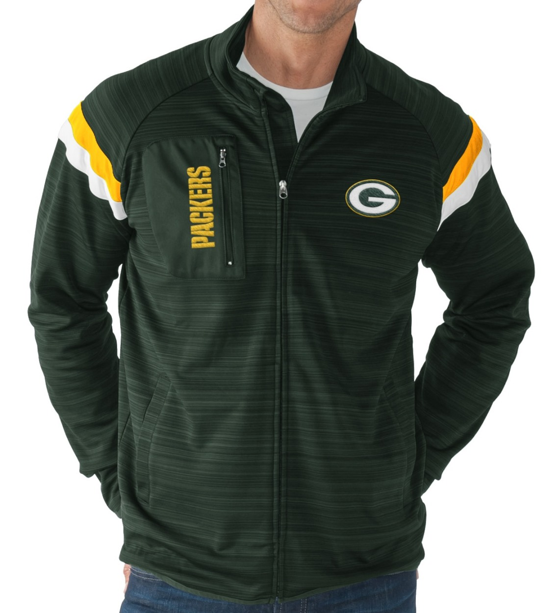 "Green Bay Packers NFL G-III ""Wild Card"" Men's Full Zip Track Jacket"
