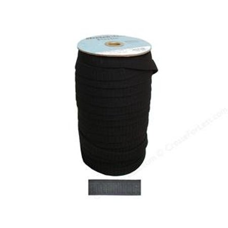(Black 3/4 inch Non-Roll Elastic (Per 3 Yard Cut) For Waistbands, Cuffs, Pajamas, Pants, Garments by Stretchrite, 65% Polyester, 35% Rubber By Unknown)