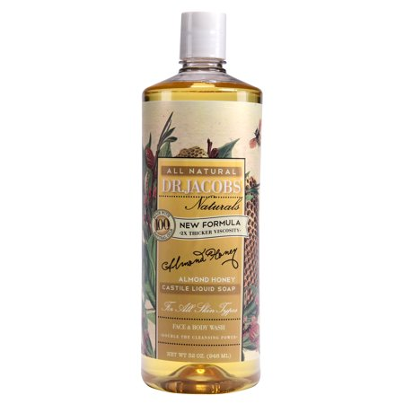 Dr. Jacobs Naturals Face & Body Wash, Almond Honey, 32 Ounce