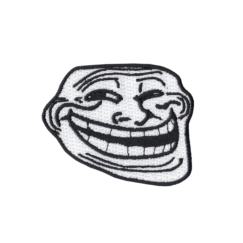Troll Face Emoji Meme Iron On Applique Patch