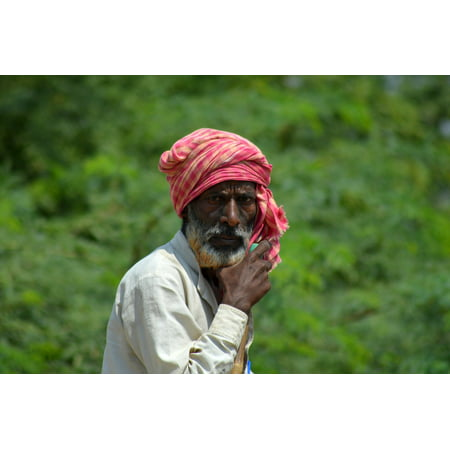 Canvas Print India Villager Village People Old Stretched Canvas 10 x - Village People Outfits