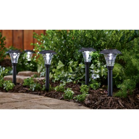 Mainstays Pebbled Cone 8 Piece Solar Powered Landscape