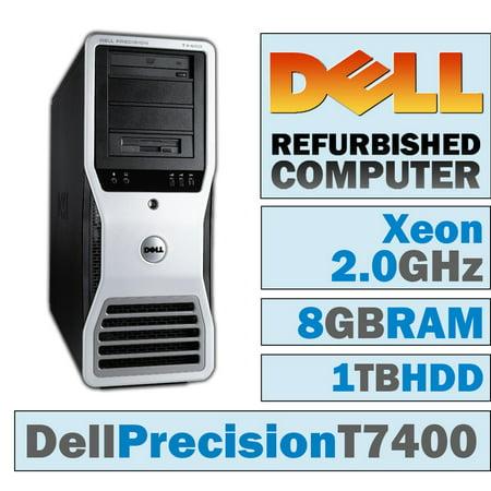 REFURBISHED Dell Precision T7400 TWR/Xeon E5405 @ 2.00 GHz/8GB DDR2/1TB HDD/DVD-RW/WINDOWS 10 HOME 64 BIT Core 2 Duo T7400 Dvd