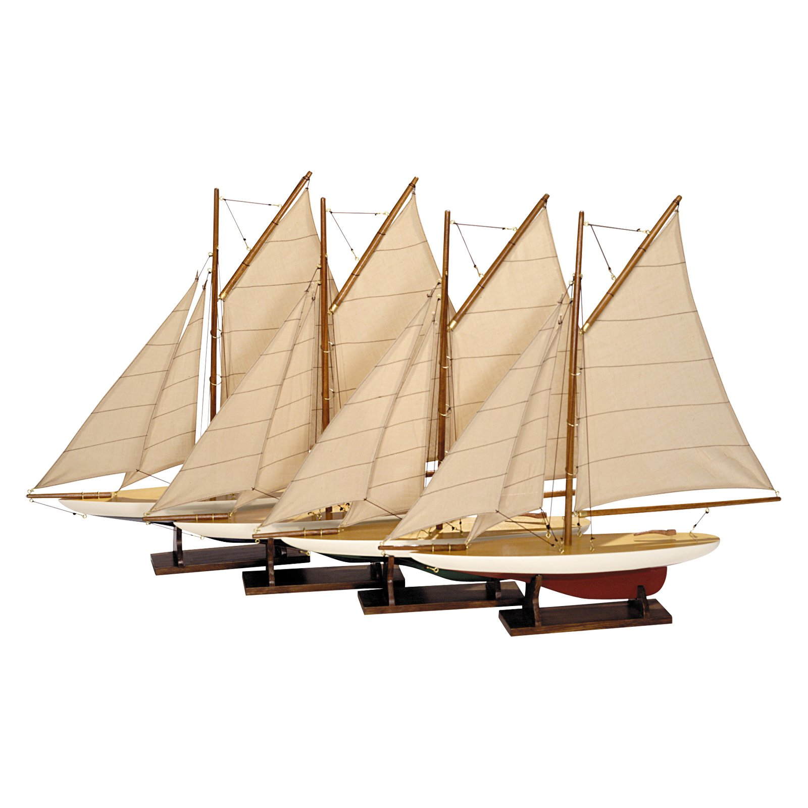 Authentic Models Mini Pond Yacht - Set of 4