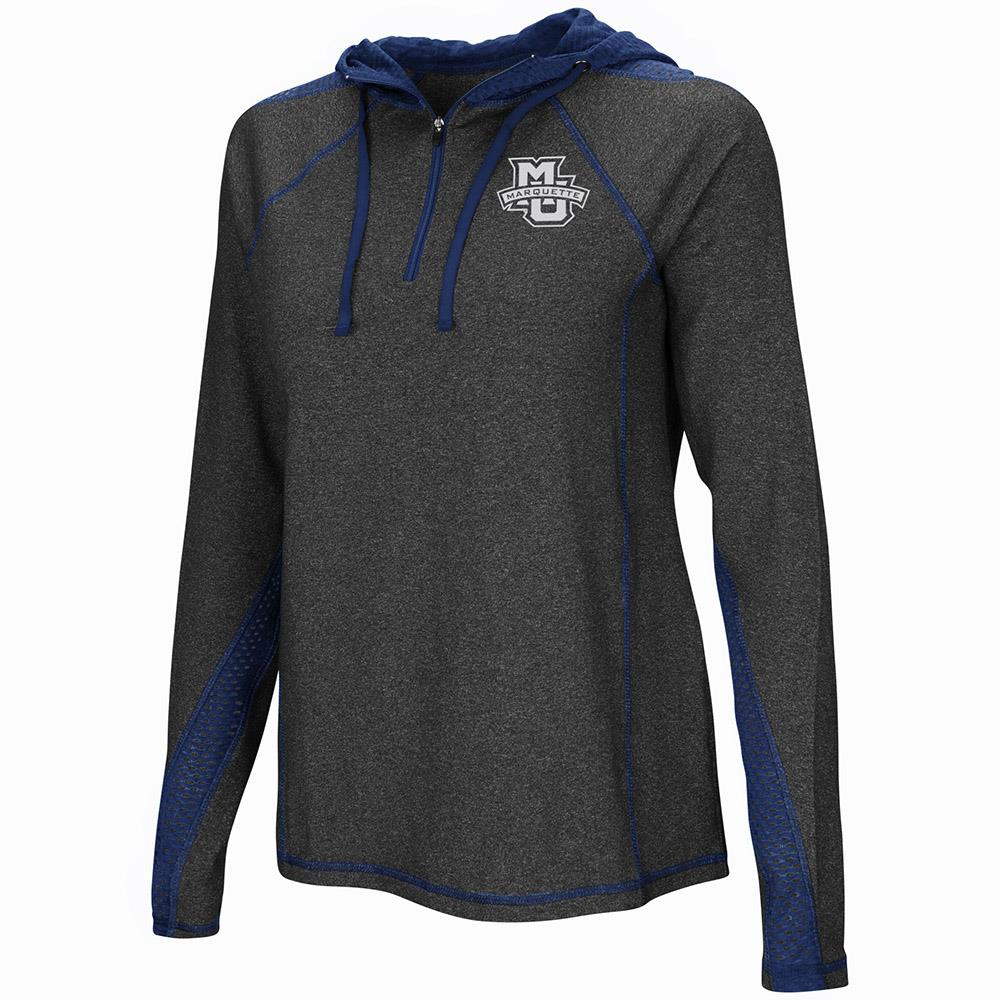 Womens Marquette Golden Eagles Quarter Zip Hoodie - S