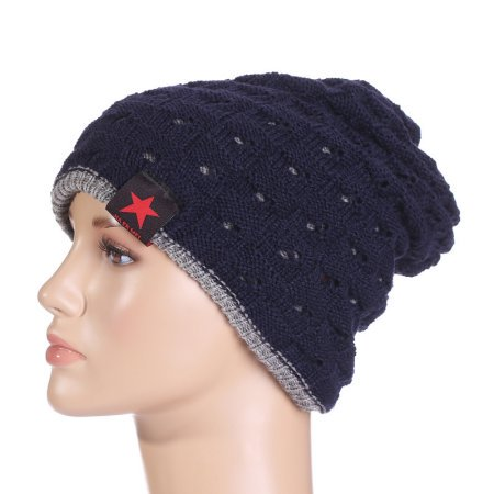 e3debd2a0e8 Winter Warm Openwork Knitted Beanie hat cap Baggy Slouchy Beanie For Men    Women
