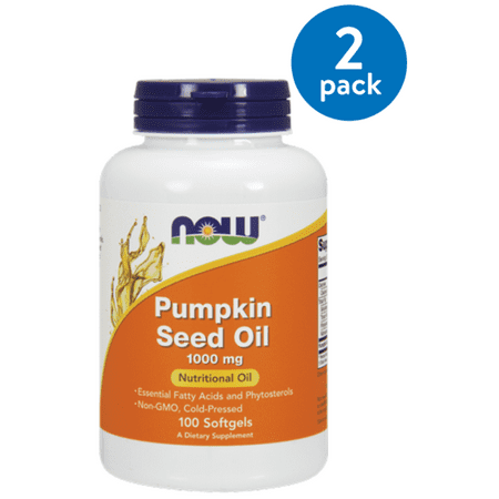 (2 Pack) Now Foods Pumpkin Oil Softgels, 1000 Mg, 100 Ct