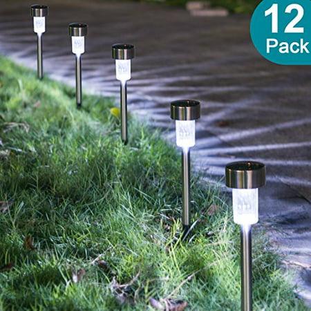 Sunnest Solar Ed Pathway Lights Garden Outdoor Stainless Steel Landscape Lighting For