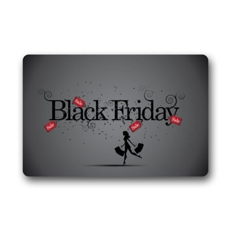 WinHome Black Friday Doormat Floor Mats Rugs Outdoors/Indoor Doormat Size 30x18 inches