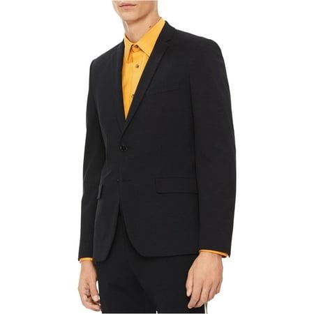Calvin Klein Mens Solid Two Button Blazer Jacket