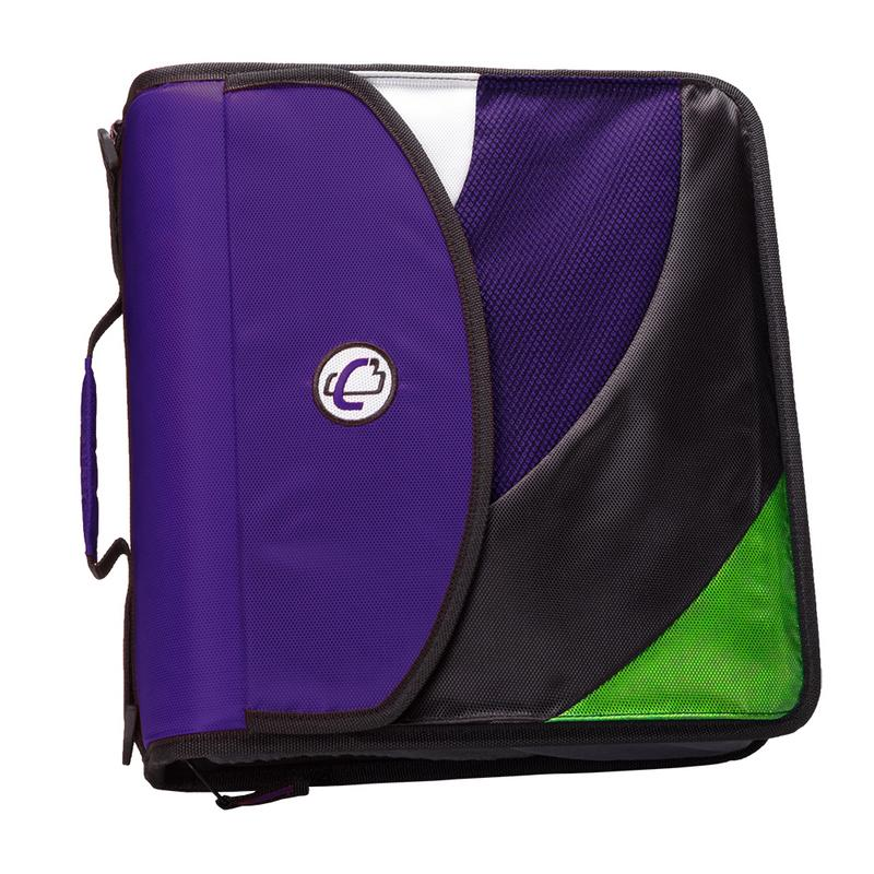 Case it dual d ring zip backpack binder, 2 sets of 2 inch rings, blk by Case it, Inc.