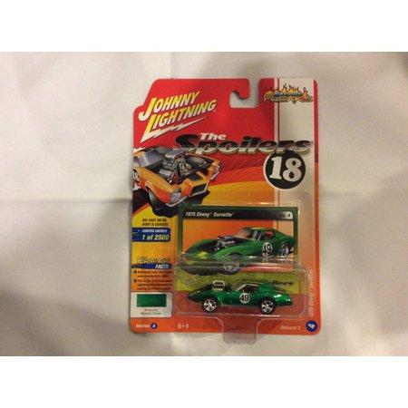 Johnny Lightning 1:64 Street Freaks Ver A 1975 Chevy Corvette Metallic (67 Corvette Green)