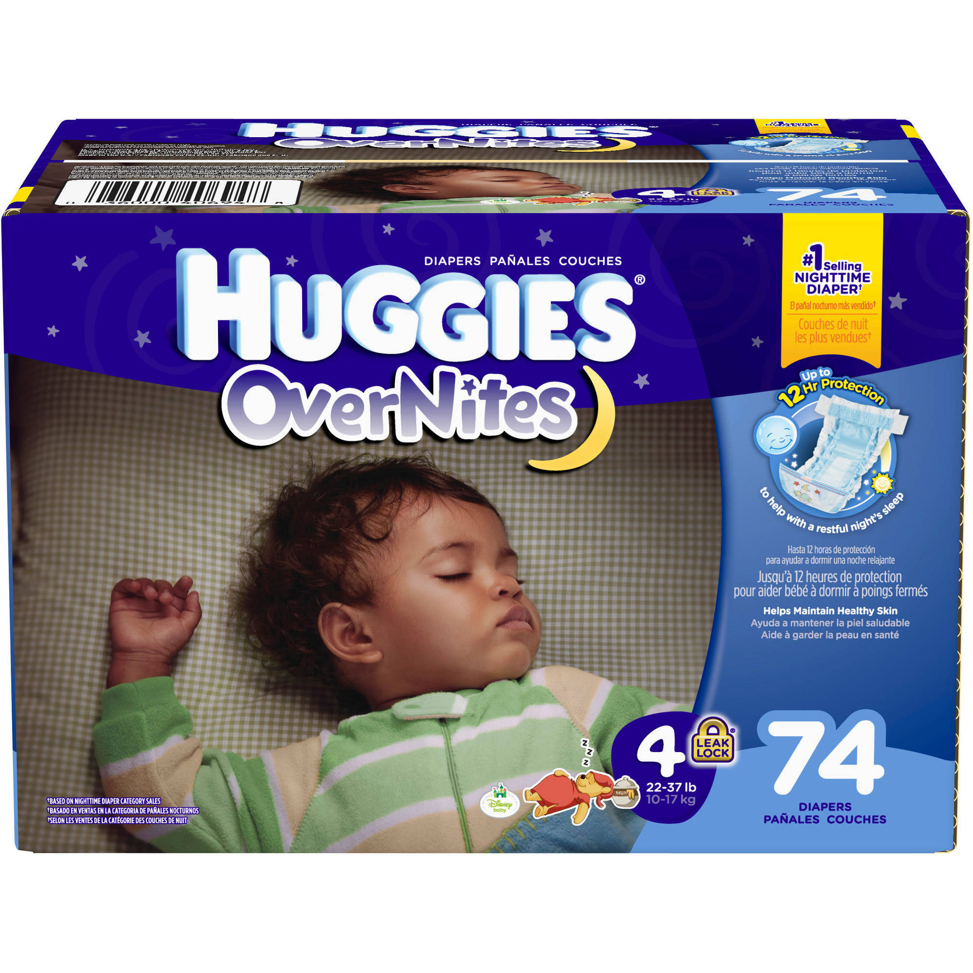 HUGGIES OverNites Diapers, Size 4 (Choose Diaper Count)