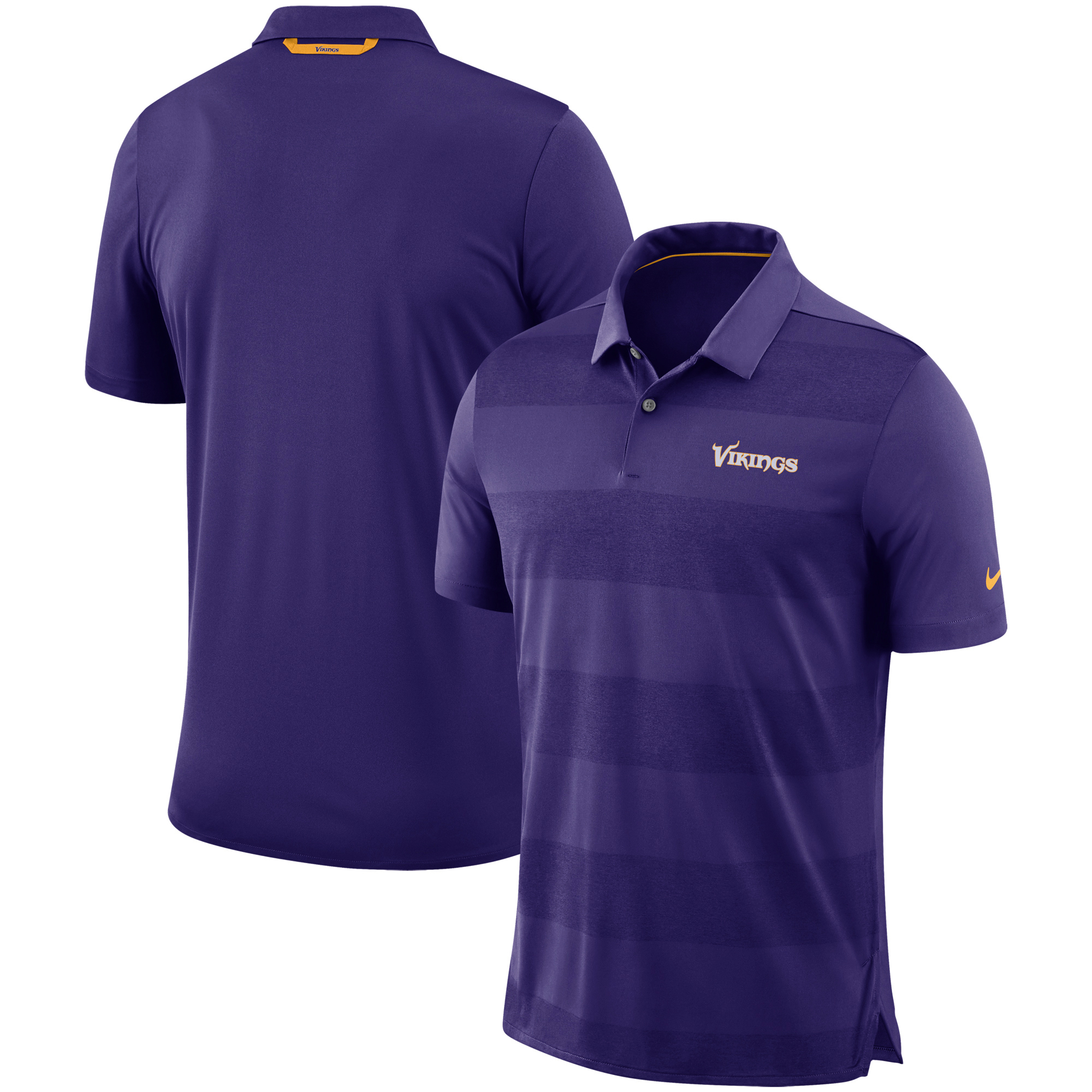 Minnesota Vikings Nike Sideline Early Season Wordmark Performance Polo - Purple