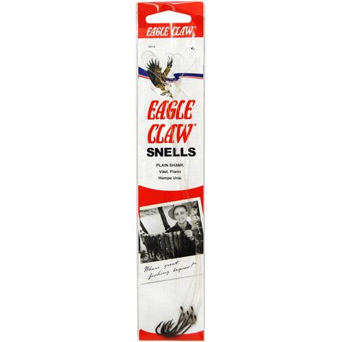 Eagle Claw Pro-V 90 Non Offset Jig Hook Size 4 Platinum Black Package of 100