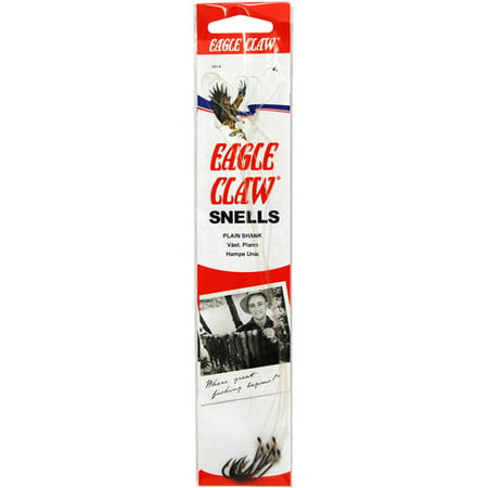 Eagle Claw Plain Shank Snell Fish Hook, Size 2/0