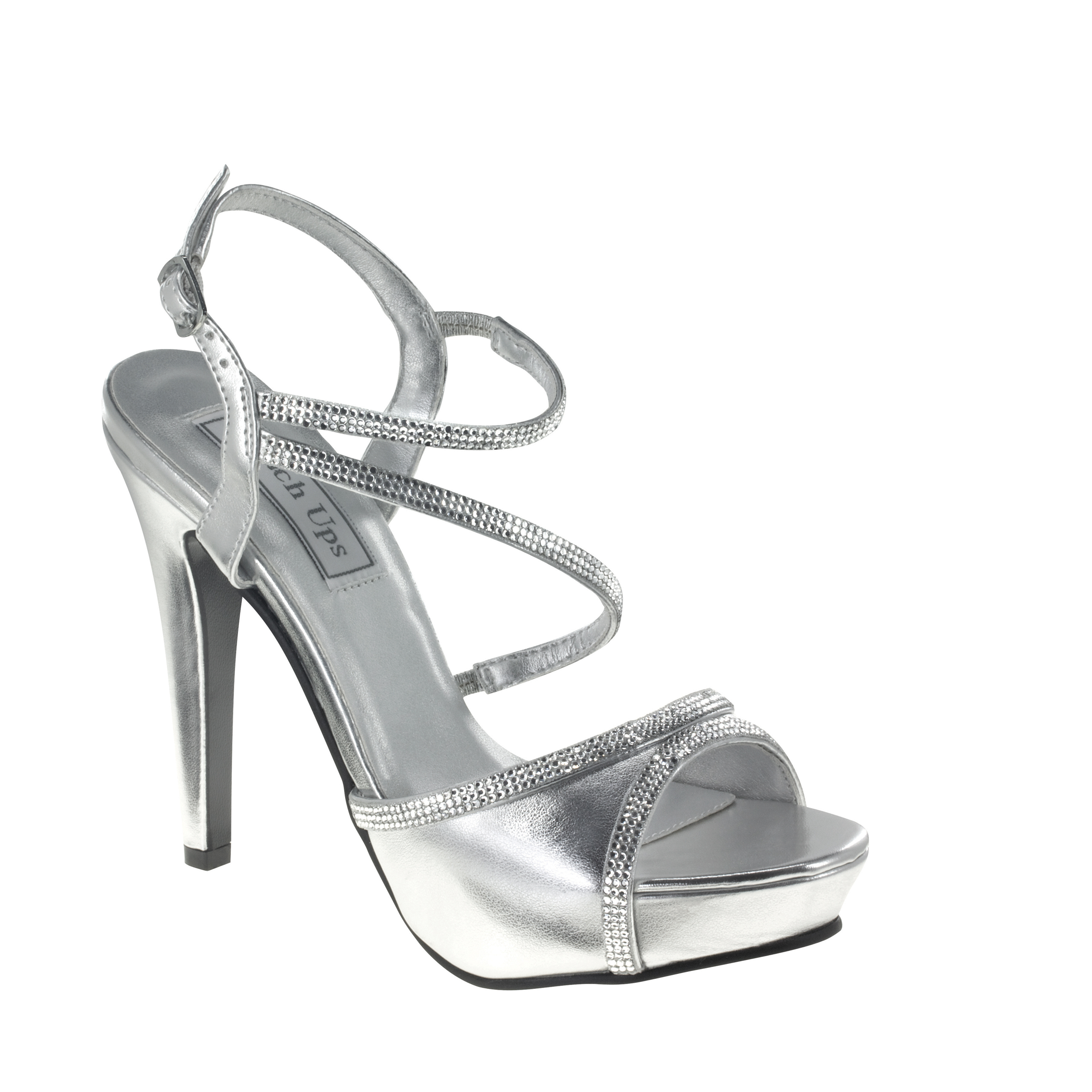 Touch Ups Womens Allie Manmade Platform Sandal,Silver,8 M US
