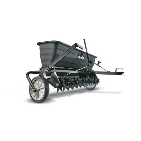 "Agri-Fab, Inc. 175 lb. 42"" Spread Drop Spreader/Spike Aerator Tow Behind Lawn Groomer Model #45-03012"