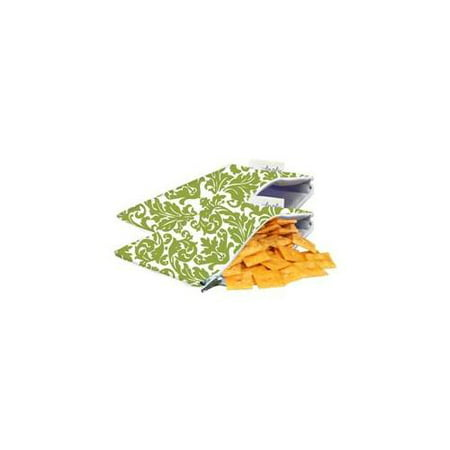 Itzy Ritzy Snack Happensâ ¢ Mini Reusable Snack Bag, Avocado Damask, Mini, 2-Count