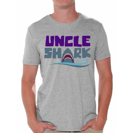 Awkward Styles Uncle Shark Tshirt Shark Family Shirts Family Vacation Shirts Men's Shark T Shirt Matching Family Collection Best Uncle Shirts Cute Shark Tshirts for Family Shark Themed Party