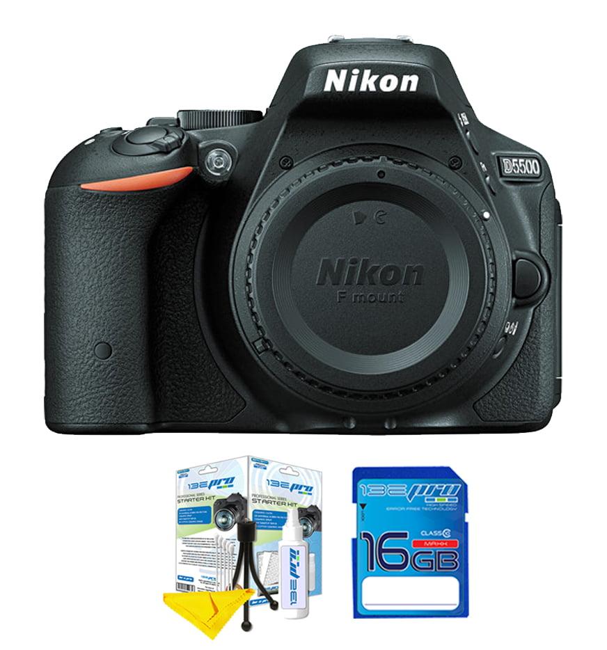 nikon d5500 dslr camera (body) + cleaning starter kit