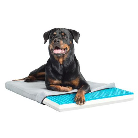 Enchanted Home Pet Pet Therapeutics Theracool Gel Cell Cooling Pet Pad With Tri Core Charcoal Infused Memory Foam