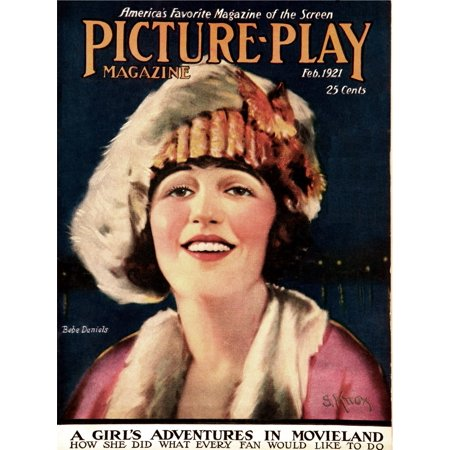 Bebe Daniels On The Cover Of Picture-Play Magazine February 1921 Photo Print