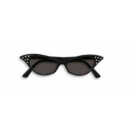 50'S 50S Style Rhinestone Cat Eye Sunglasses Sun Glasses Costume Accessory - 50 Style Costumes