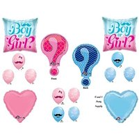 QUESTION GENDER REVEAL BOY GIRL BABY SHOWER Balloons Decorations Supplies by Anagram