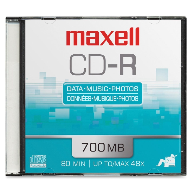 Maxell 700 MB CD-R Slim Jewel Case