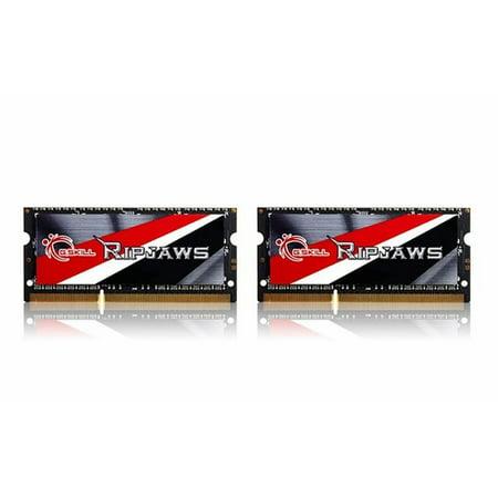 G.SKILL Ripjaws F3-1600C9D-16GRSL 16GB 204-Pin DDR3-1600 PC3 12800 Laptop Memory 1600 Pc3 12800 Dual Channel