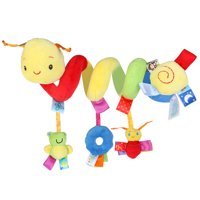 PIXNOR Kid Baby Crib Cot Pram Hanging Rattles Spiral Stroller&Car Seat Toy with Ringing Bell