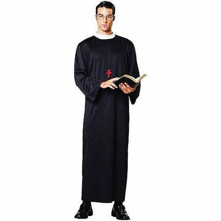 Priest Robe Men's Adult Halloween Costume - Catholic Priest Costume