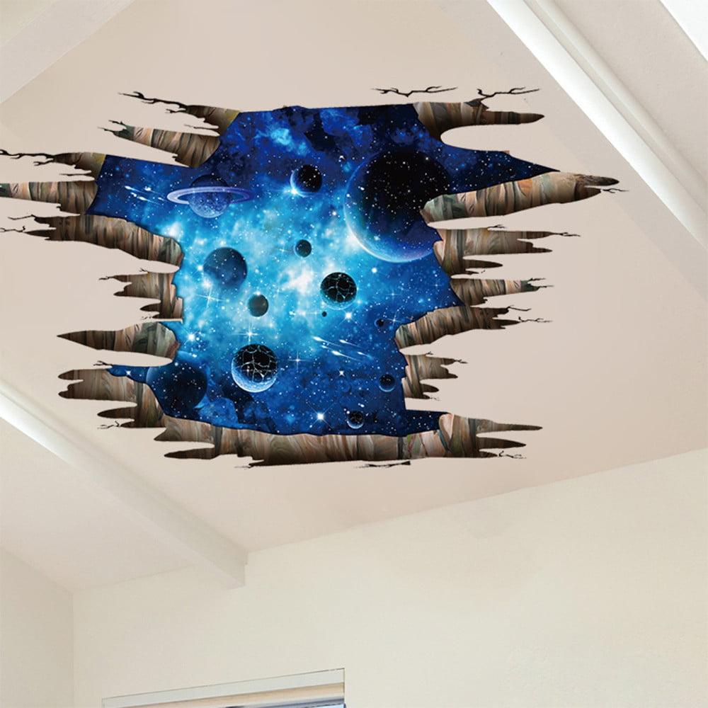 3D Floor/Wall Sticker Removable Mural Decals Vinyl Art Living Room Decors A