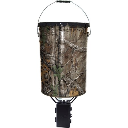 Wildgame Innovations Metal Pail Deer and Game Feeder, 6.5 Gal