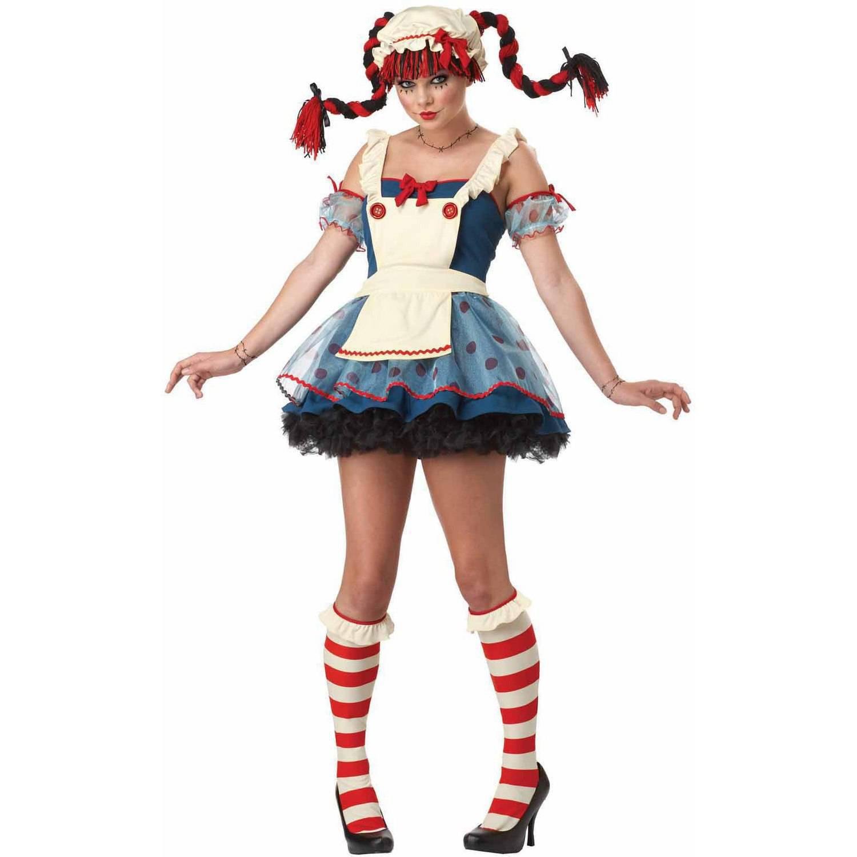 California Costumes Adult Rag Doll Costume 1376 Navy/White