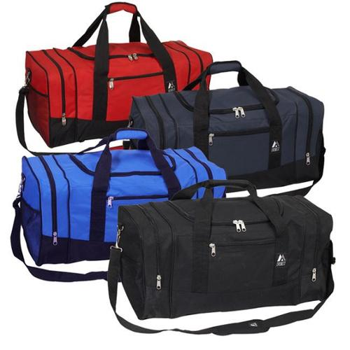 Everest 25-inch 600 Denier Polyester Sport Gear Duffel Bag Navy/ Black