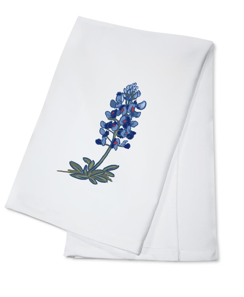 Blue Bonnet Icon Lantern Press Artwork (100% Cotton Kitchen Towel) by Lantern Press